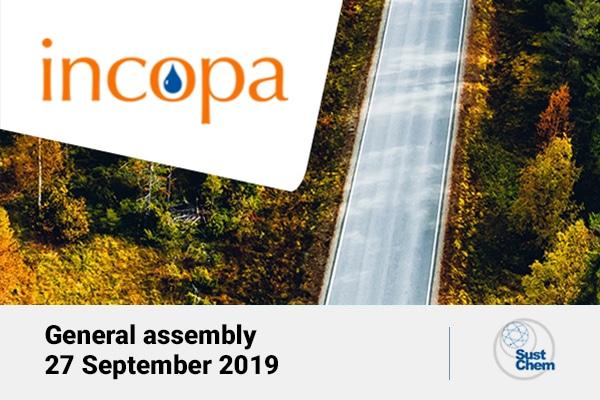 Συμμετοχή στη Γενική Συνέλευση τουINCOPA(Ευρωπαϊκή Ένωση Παραγωγών χημικών επεξεργασίας νερού) στην Αθήνα